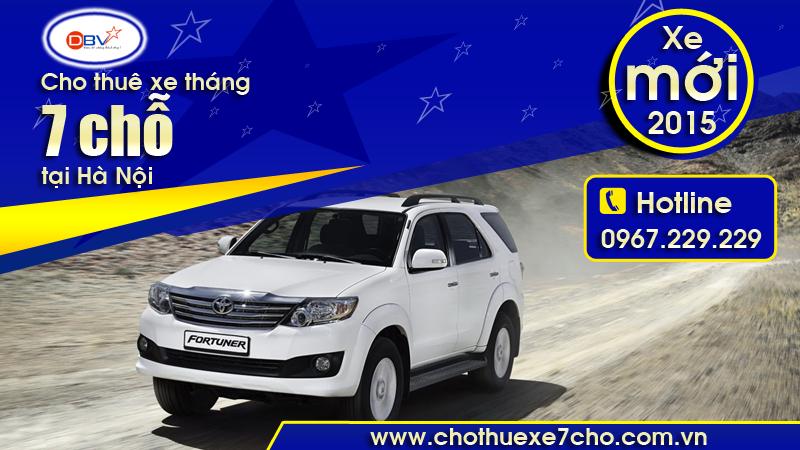 Cho thuê xe tháng 7 chỗ chuyên nghiệp, giá rẻ tại Hoàng Mai