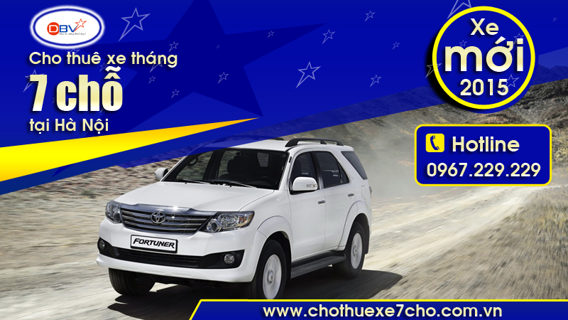 Cho thuê xe tháng 7 chỗ có lái giá rẻ tại Tây Hồ - Hà Nội