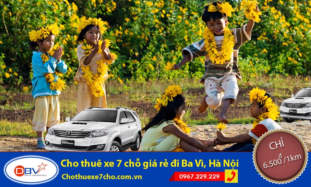 Cho thuê xe 7 chỗ có lái đi Ba Vì với chi phí hấp dẫn tại Hà Nội