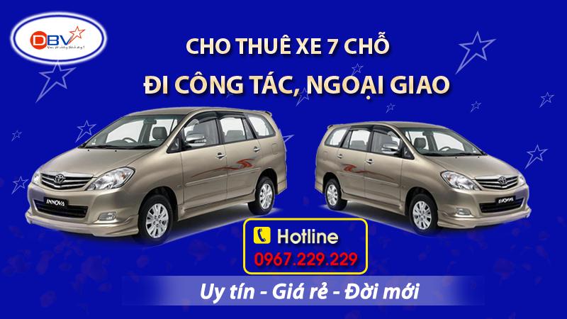Cho thuê xe 7 chỗ đi công tác, ngoại giao giá rẻ nhất tại Hà Nội