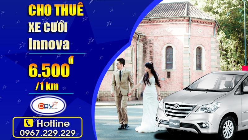 Cho thuê xe cưới 7 chỗ Innova Toyota
