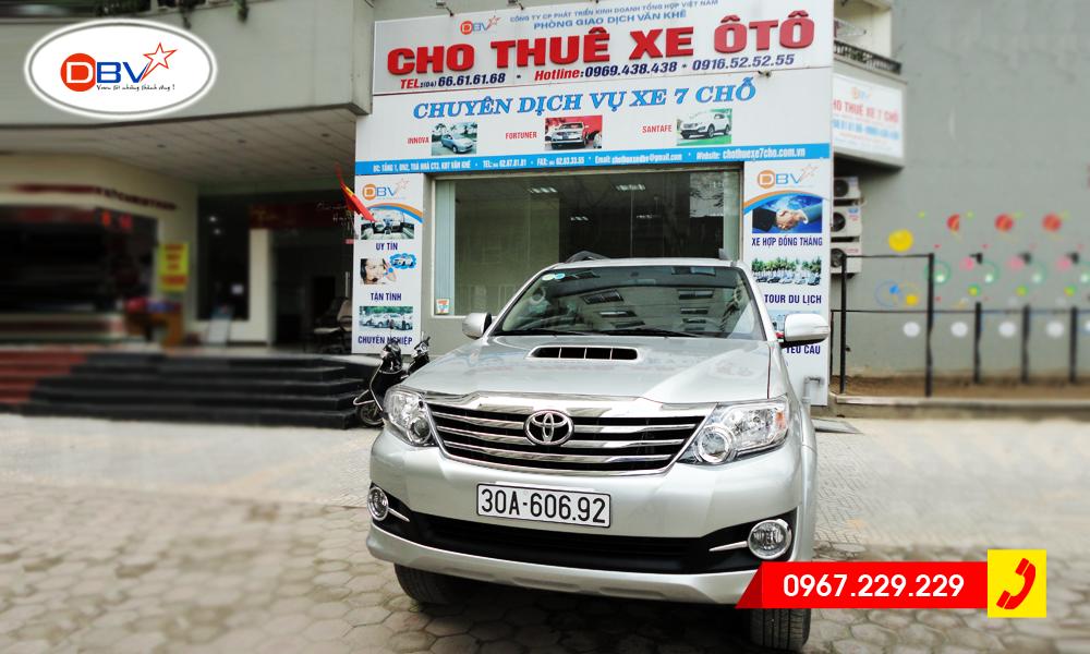 Cho thuê xe 7 chỗ Fortuner giá rẻ, uy tín tại Hà Nội - DBV
