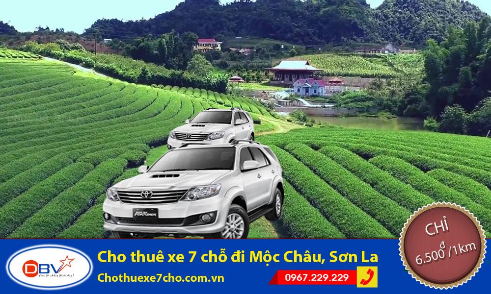Cho thuê xe 7 chỗ đi Mộc Châu, Sơn La giá siêu rẻ tại Hà Nội